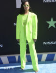 Ella Mai Steps Out In A Neon-Green Suit For The 2019 BET Awards
