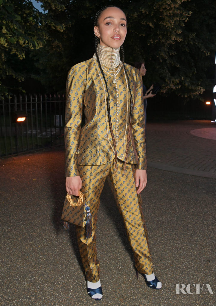 FKA twigs Rocks Vintage Christian Dior by John Galliano For The Serpentine Galleries Summer Party