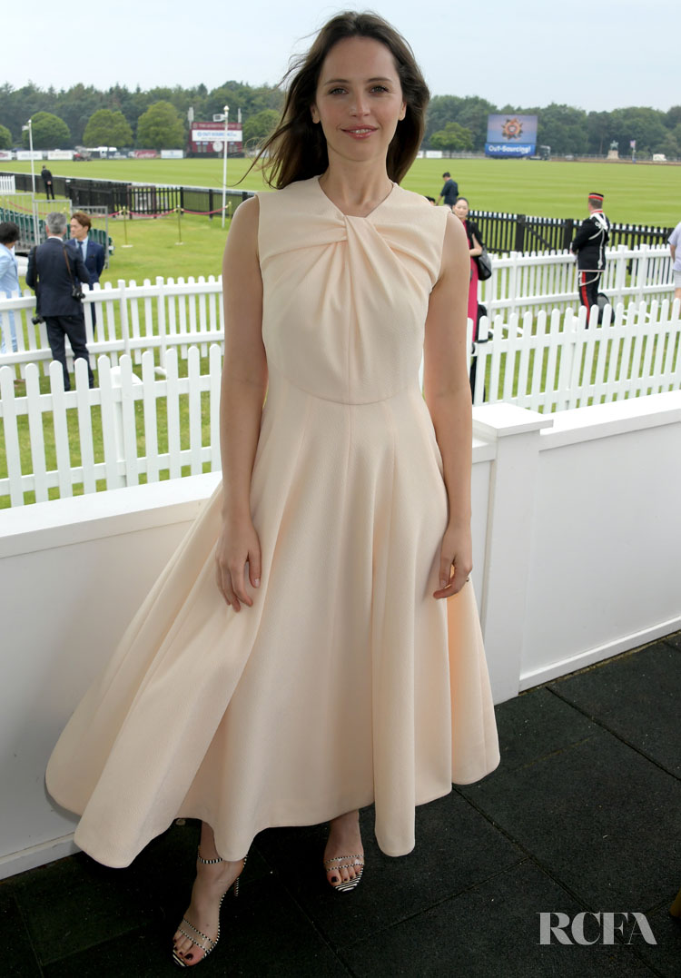 Felicity Jones' Elegant Style For The Royal Windsor Cup Final