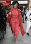 Gabrielle Union Was Looking Spicy In Paprika For 'L.A.'s Finest' London Promo Tour