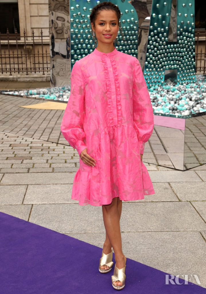 Gugu Mbatha-Raw Pretty In Pink For The Royal Academy of Arts Summer Exhibition