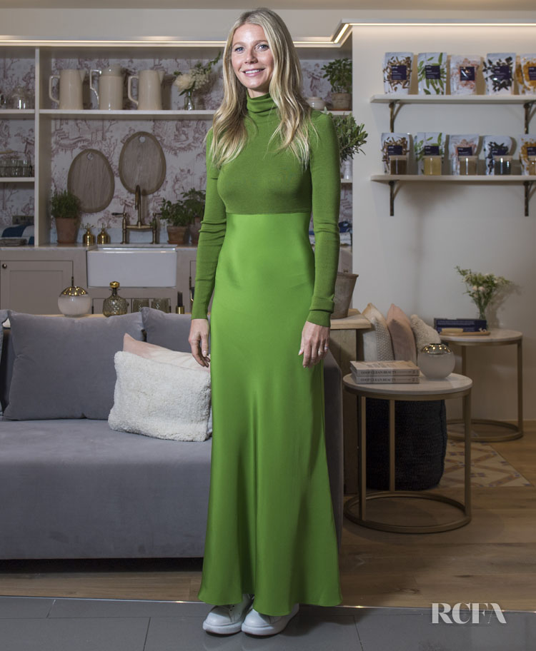 Gwyneth Paltrow Goes Green In Tse Cashmere For Goop @ Harvey Nichols