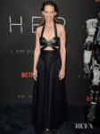 Hilary Swank Promotes Futuristic Chamber Piece 'I Am Mother' In All Black