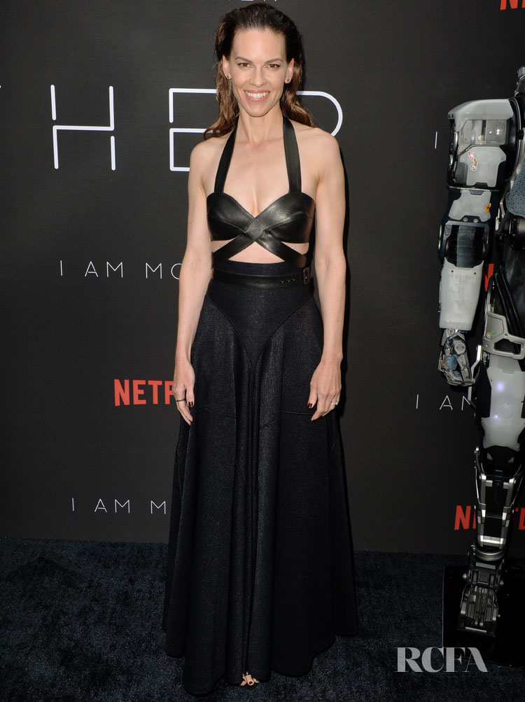 Hilary Swank in Azzedine Alaia -  'I Am Mother' LA Screening