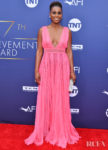Issa Rae's Perfect Pink Moment For The AFI Life Achievement Award Honoring Denzel Washington