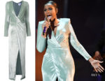 Jennifer Hudson's Galvan Vera Velvet Dress