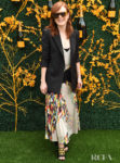 Julianne Moore's Post Cannes Chic Floral Look For The Veuve Clicquot Polo Classic