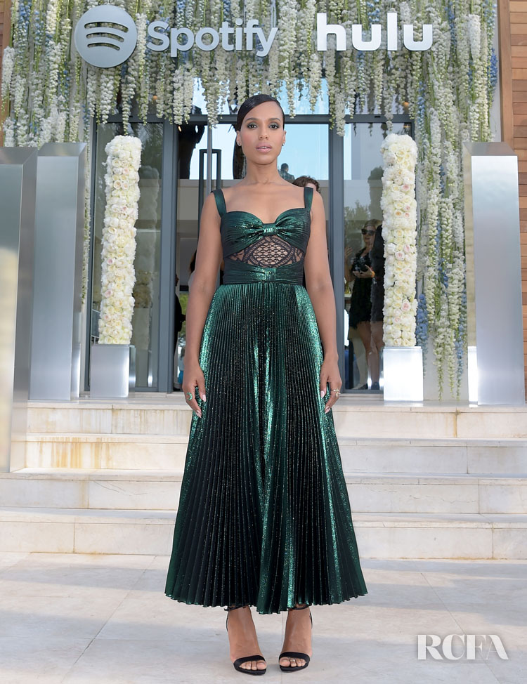 Kerry Washington in Elie Saab - Spotify and Hulu's Cannes Lion Event