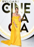 Lily Aldridge Opts For A Cape Gown Again For Bvlgari