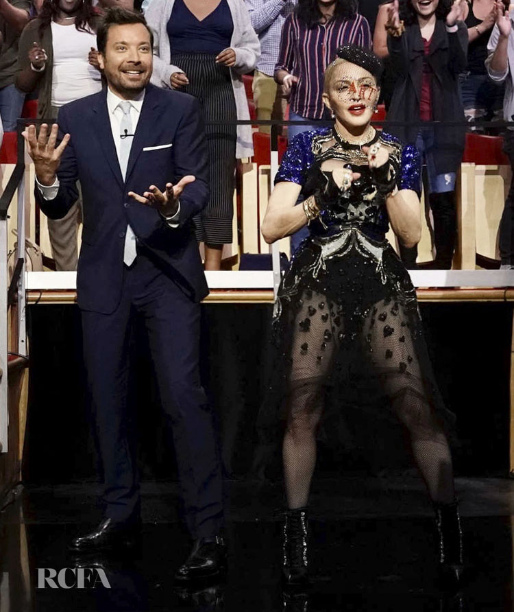 Madonna Wears Elie Saab On Jimmy Fallon