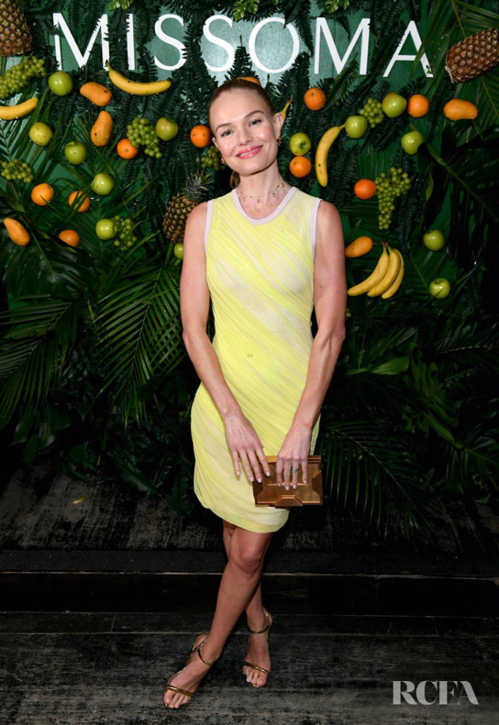 Missoma Celebrates The Launch Of Momposina With Kate Bosworth In Bod-Con Yellow
