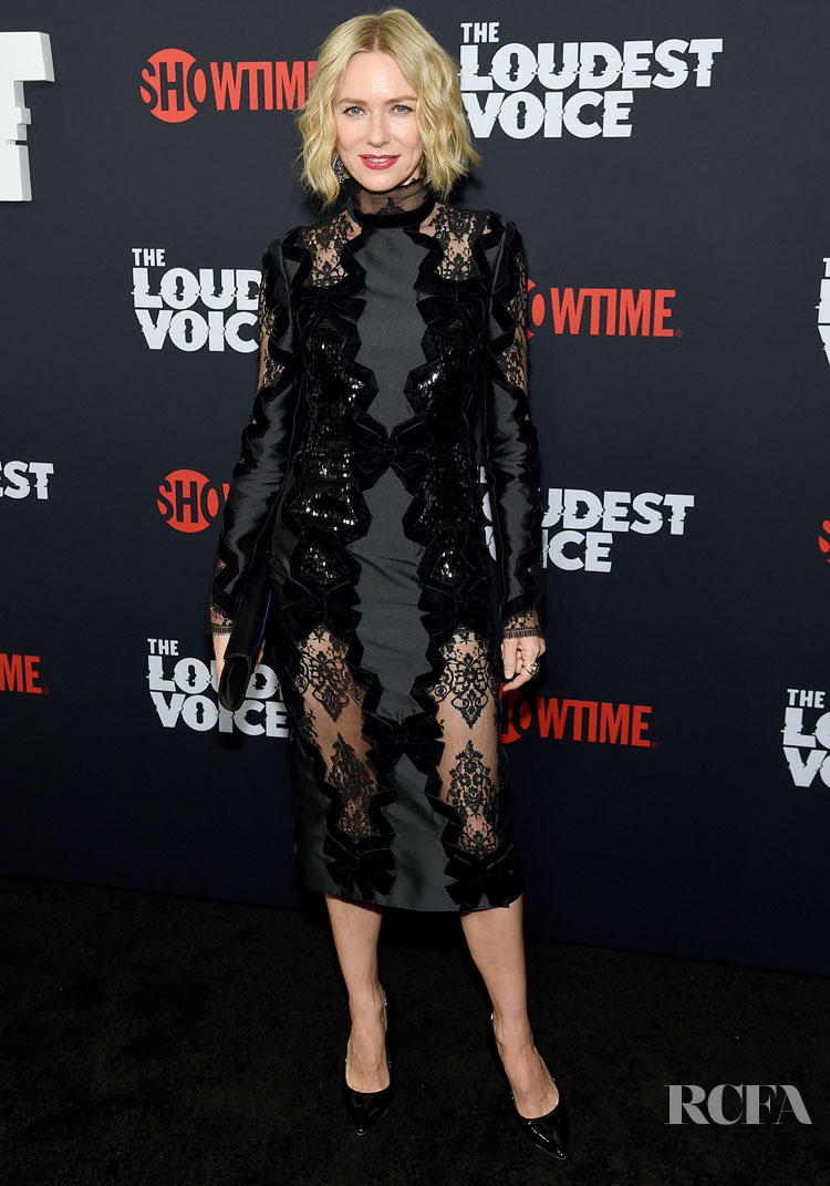 Naomi Watts' LBD With A Twist For 'The Loudest Voice' New York Premiere