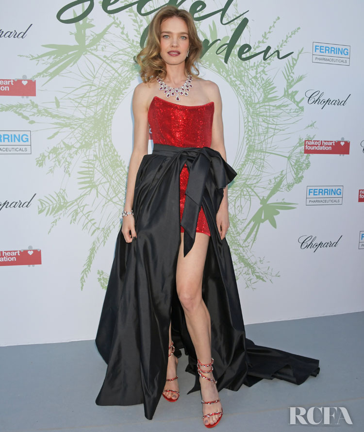 Natalia Vodianova Doesn't Break Tradition In Red For The Naked Heart Foundation