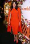 Priyanka Chopra Goes Matchy In Orange For The Bumble Launch Event