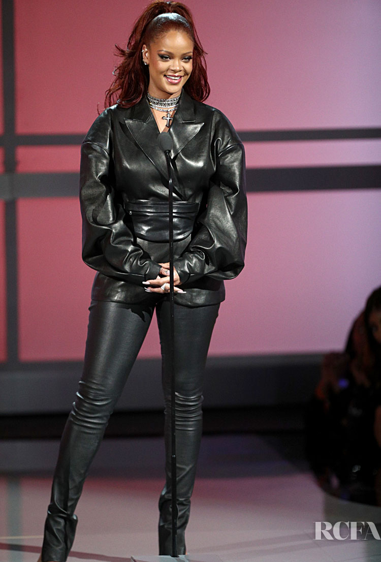 Rihanna Dons Fenty Leather At The 2019 BET Awards