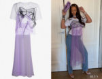 Rihanna's Quetsche Hidden Dress And Tulle T-Shirt