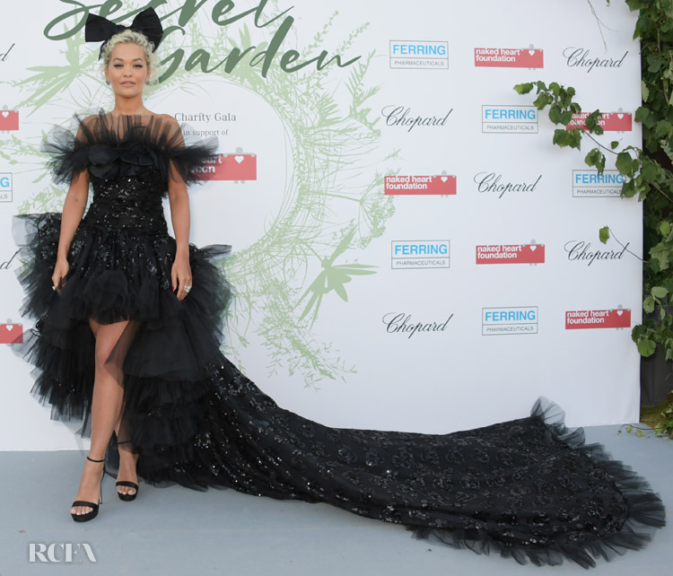 Rita Ora's High Low Haute Couture Moment For The Naked Heart Foundation