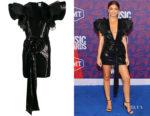 Sarah Hyland's Redemption Ruffled Sleeve Sequin Dress