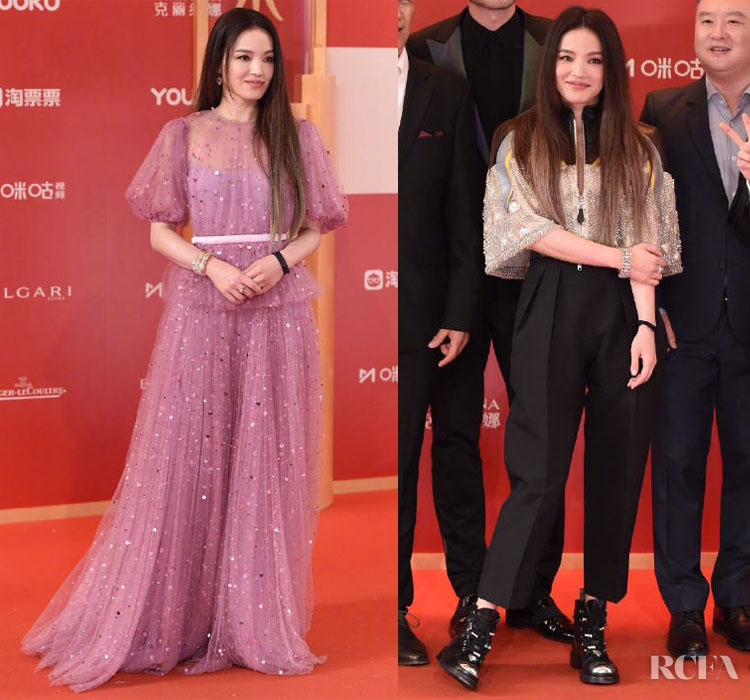 Shu Qi in Miu Miu & Louis Vuitton Resort 2020