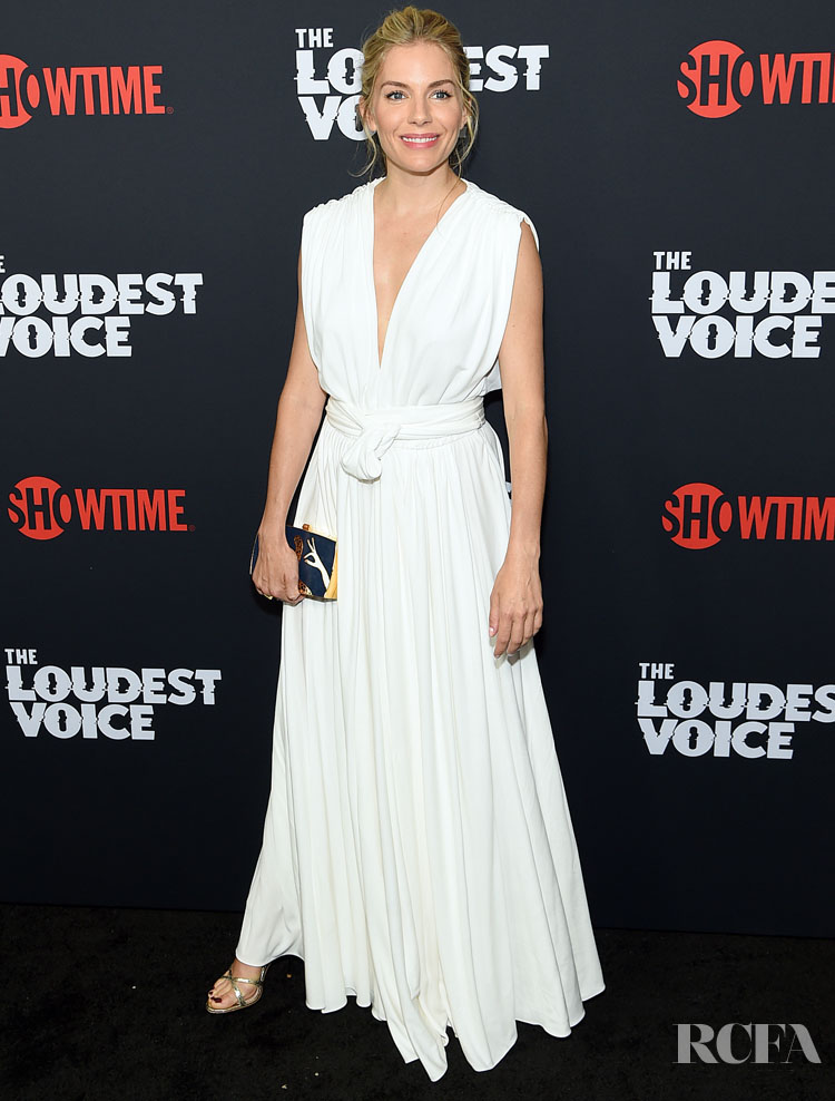 Sienna Miller In Oscar de la Renta - 'The Loudest Voice' New York Premiere