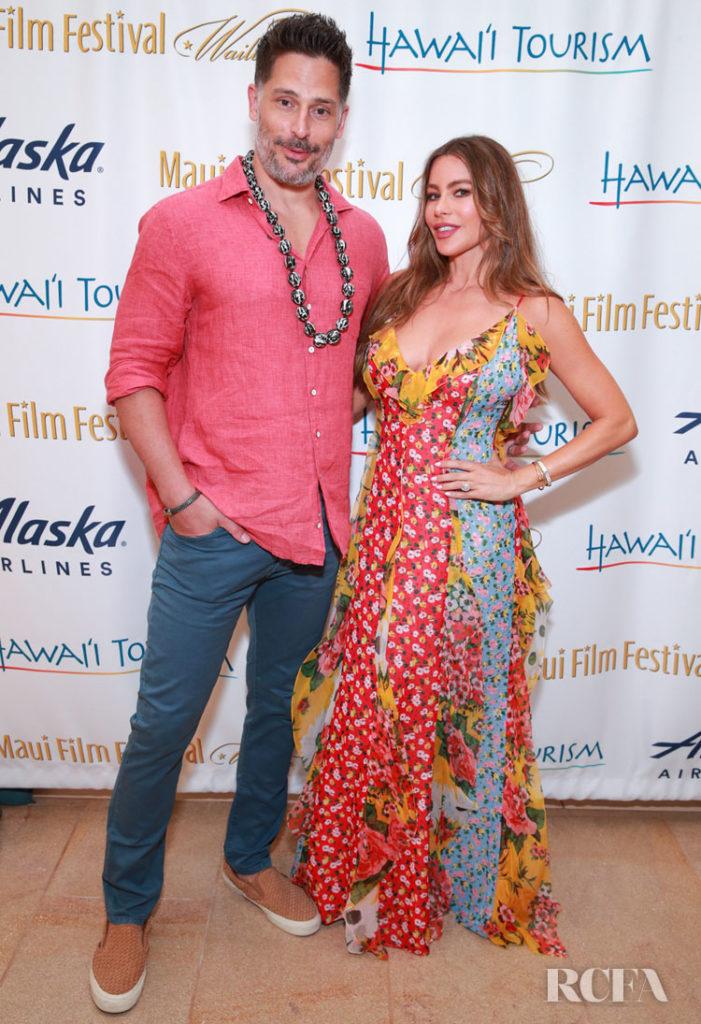 Sofia Vergara's Summery Patchwork Dress For Maui Film Festival 2019