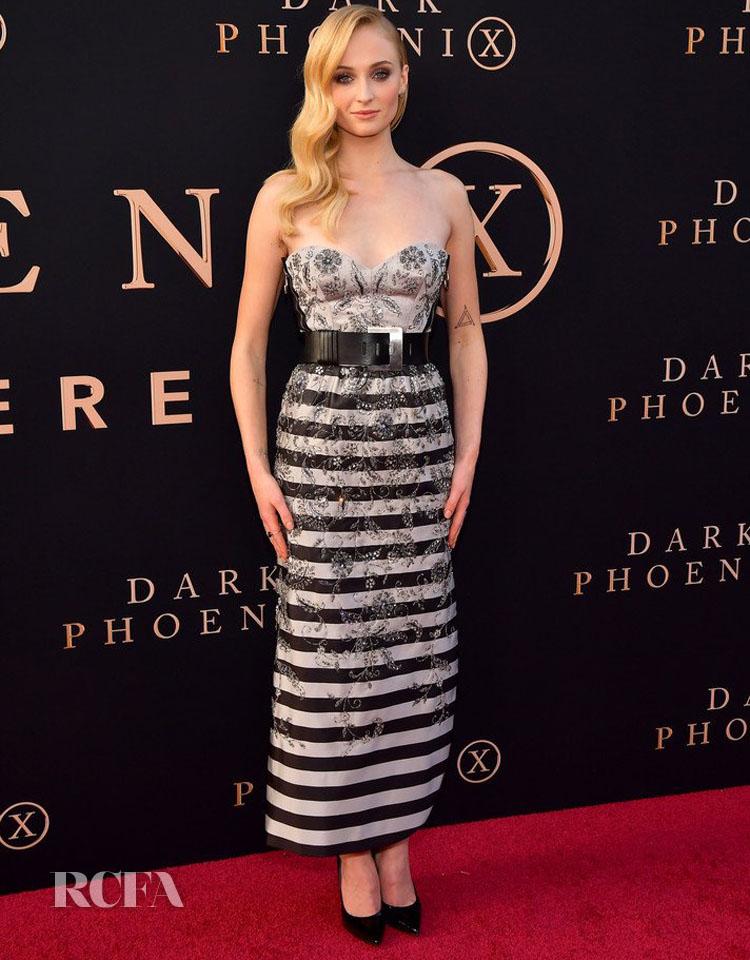 Sophie Turner Continues Her LV Run For The 'X-Men: Dark Phoenix' LA Premiere