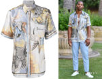 Victor Cruz's Givenchy Dragon Print Shirt