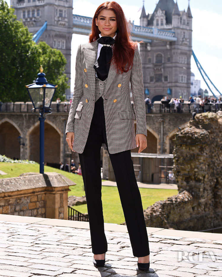 Zendaya Coleman Suits Up For The 'Spider-Man: Far From Home' London Photocall