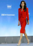 Amal Clooney: Lady In Red For The Global Conference