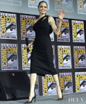 Angelina Jolie Makes A Return To The Spotlight In Signature Black For Comic Con