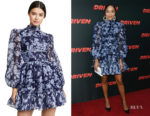 Ashley Madekwe's Keepsake Halo Floral Long Sleeve Dress