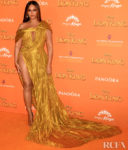Beyonce Knowles Glows In Gold For 'The Lion King' London Premiere