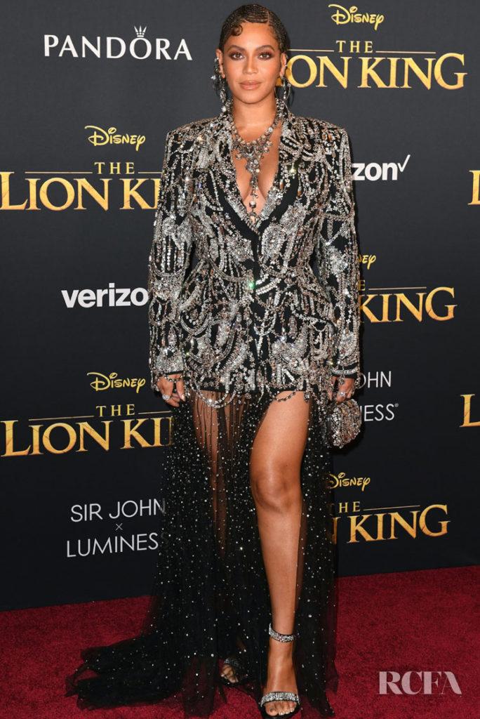Beyonce Knowles In Alexander McQueen - 'The Lion King' LA Premiere