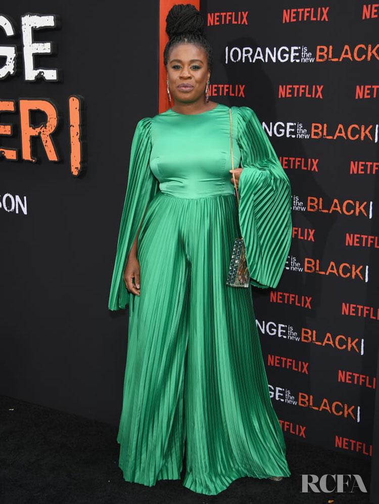 Uzo Aduba wearing SemSem 'Orange Is The New Black' Final Season World Premiere