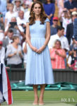 Catherine, Duchess of Cambridge Wears Baby Blue To The Wimbledon Men's Final