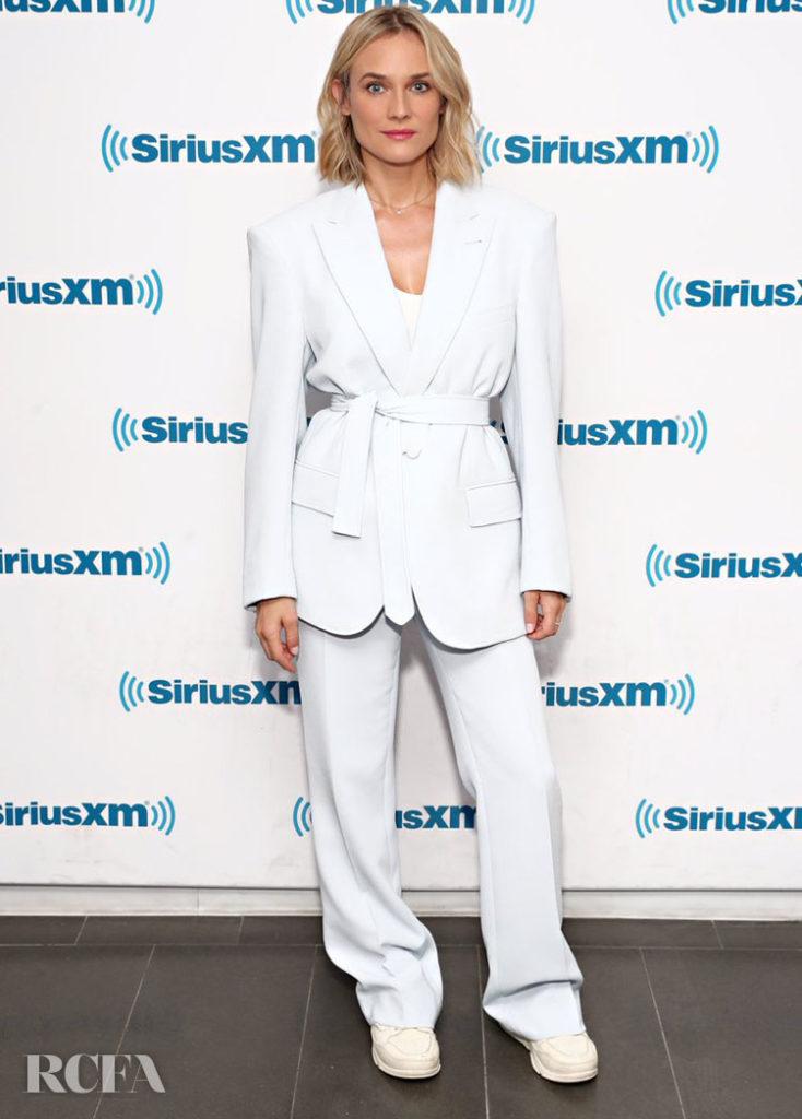 Diane Kruger In Prabal Gurung - SiriusXM Studios 'The Operative'