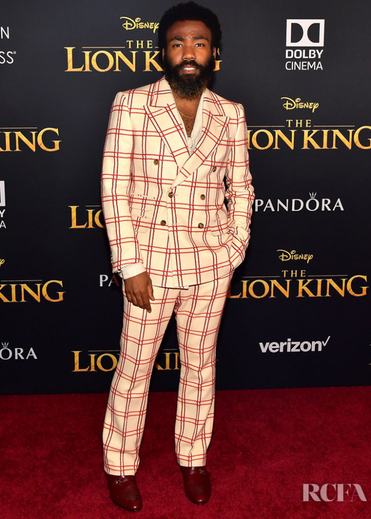 Donald Glover in Gucci - 'The Lion King' World Premiere