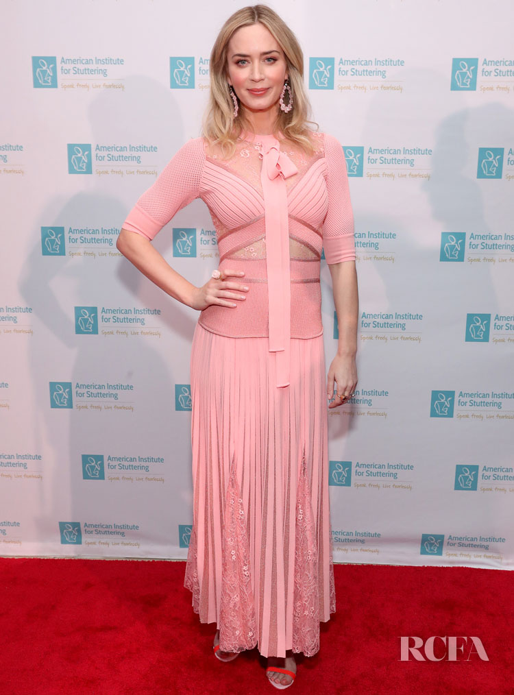 Emily Blunt In Elie Saab - American Institute For Stuttering Benefit Gala