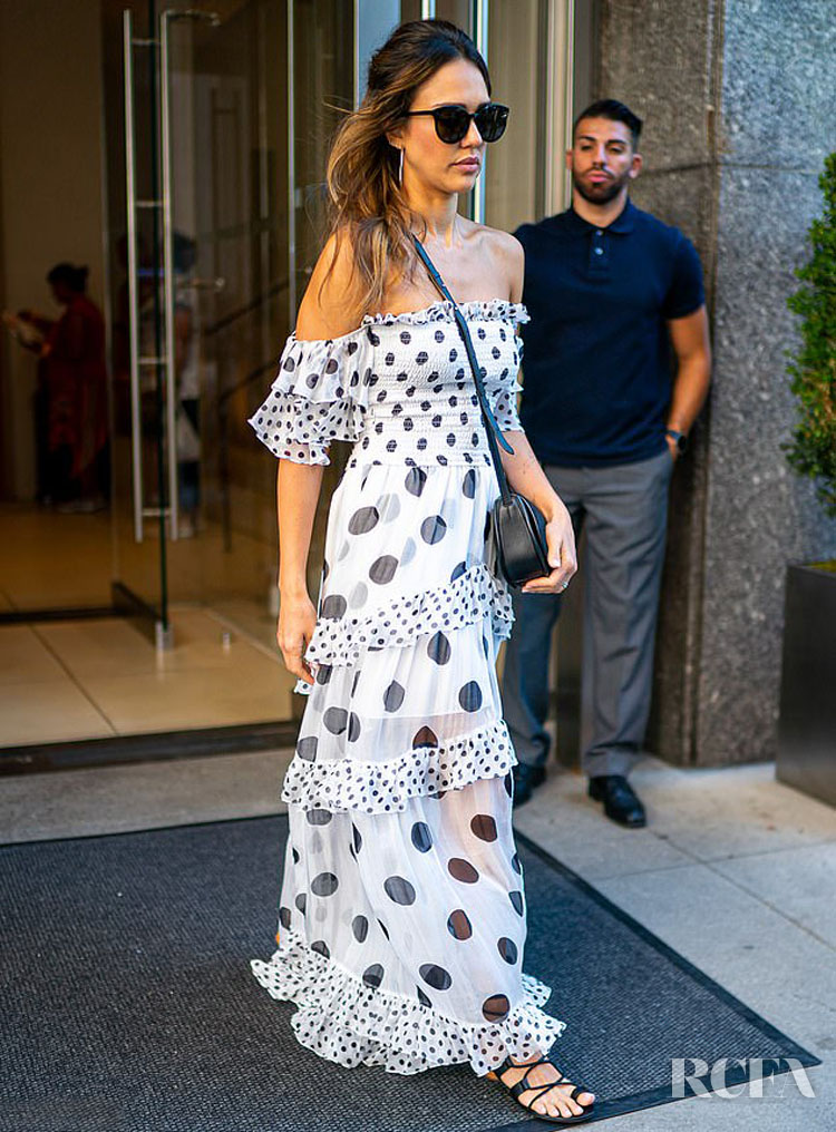 Jessica Alba Was Spotted At The Amazon Prime Day Event In New York City