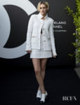 Kristen Stewart's All White For The Noir et Blanc de Chanel Fall/Winter 2019 Makeup Collection Launch