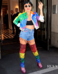 Lady Gaga Honors Stonewall Day In Custom Rainbow Versace
