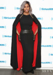 Laverne Cox Rocks A Caped Gown For SiriusXM Studios
