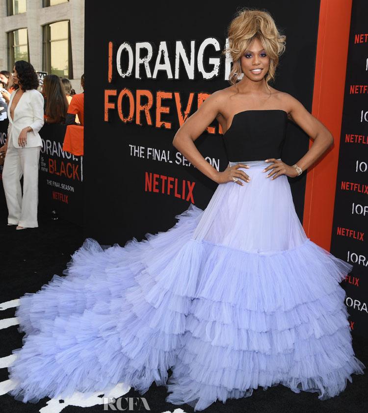 Laverne Cox In Christian Siriano - 'Orange Is The New Black' Final Season World Premiere
