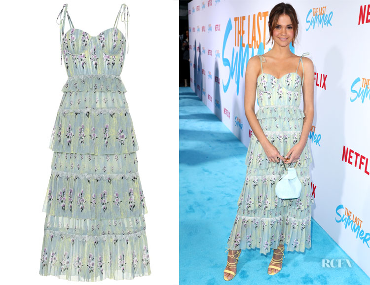 Maia Mitchell's Self-Portrait Floral Chiffon Midi Dress
