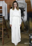 Margot Robbie's Stark White With Bold Tangerine Combo For The  'Once Upon A Time In Hollywood' LA Photocall