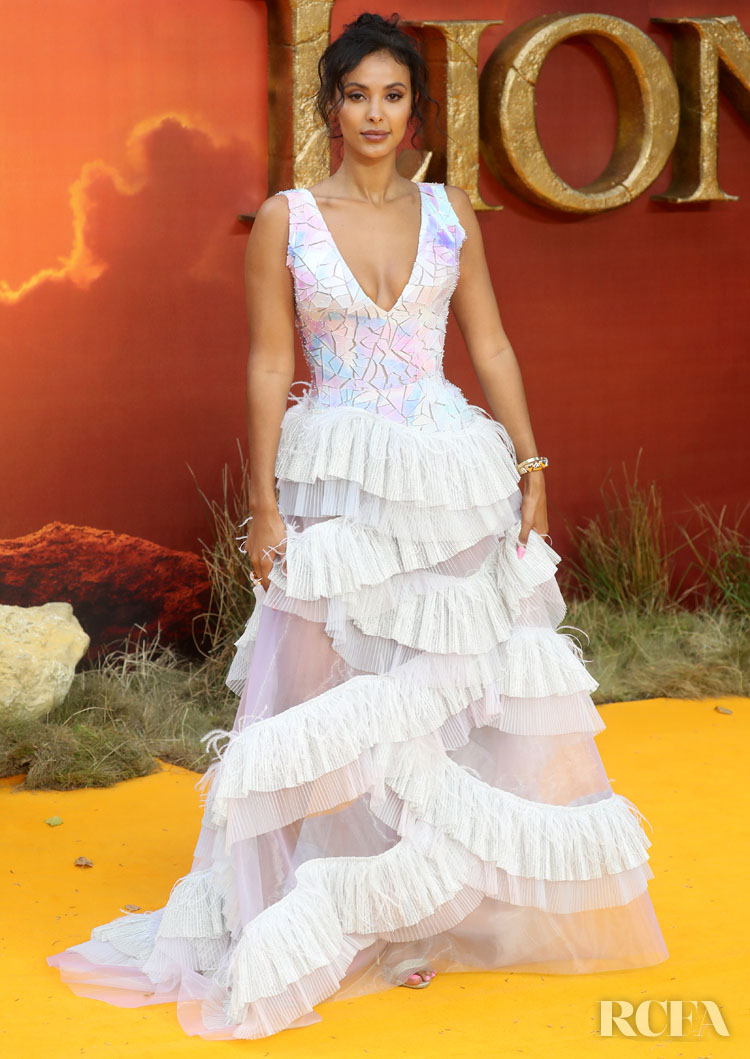 Maya Jama Wore Rami Kadi Couture To 'The Lion King' London Premiere