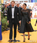 Meghan, Duchess of Sussex Was Back In Black For Her First Post Baby Red Carpet Appearance For 'The Lion King' London Premiere
