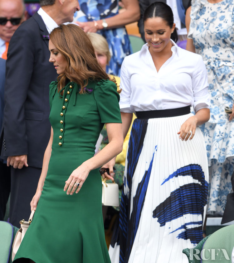 Meghan, Duchess of Sussex Wore A Pretty Pleated Hugo Boss Skirt To The Wimbledon Finals