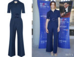 Miriam Leone's Gucci Belted Wool and Silk-Blend Cady  Jumpsuit