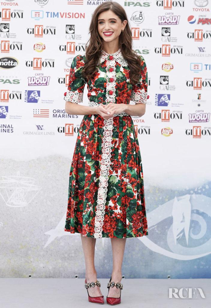 Natalia Dyer In Dolce & Gabbana -  The Giffoni Film Festival